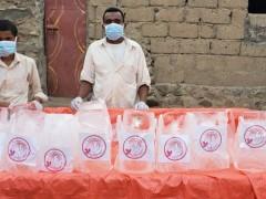 مشروع الاغاثة العاجلة  لمياة  صالحة للشروب  و قوالب ثلج